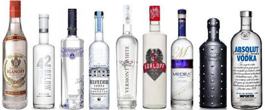 Q: What do all these fancy vodka brands have in common?   A: They're all overpriced, and they all taste like rubbing alcohol watered down with piss.