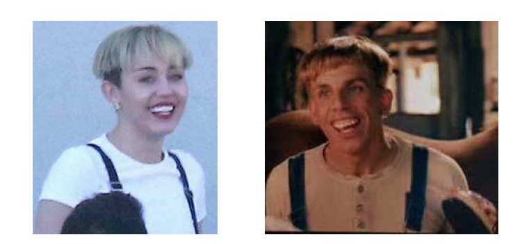 miley cyrus looks like simple jack