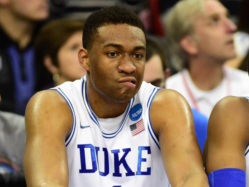 Don't be too bummed, Jabari. I think your signing bonus this summer might ease the blues.