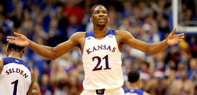 With Joel Embiid's availability in question, Kansas looks shaky.