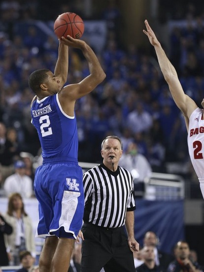Aaron Harrison's clutch shooting has added another element to a dangerous Kentucky team.
