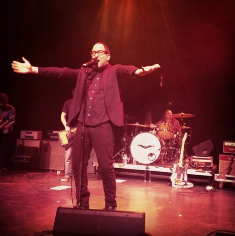 Finn performing with the Hold Steady in 2014.