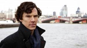 "Benedict Cumberbatch as Sherlock Holmes in BBC Sherlock ""The Great Game"""