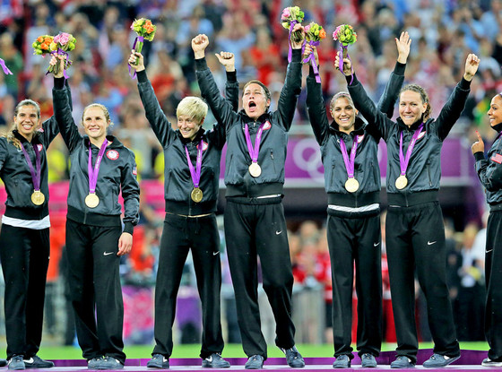 2012 Olympics: US Women's National Soccer Team wins gold.