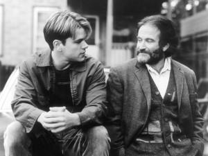 "Matt Damon, left, and Robin Williams in ""Good Will Hunting"". (1997)"