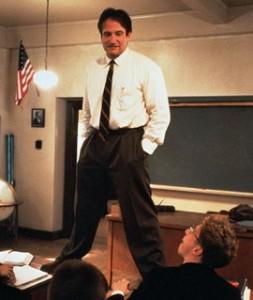 "Robin Williams as John Keating ""The Dead Poets' Society"" (1989)"