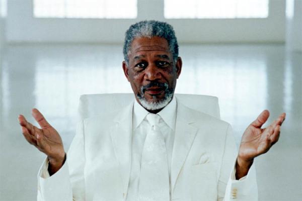 Morgan Freeman or the light?