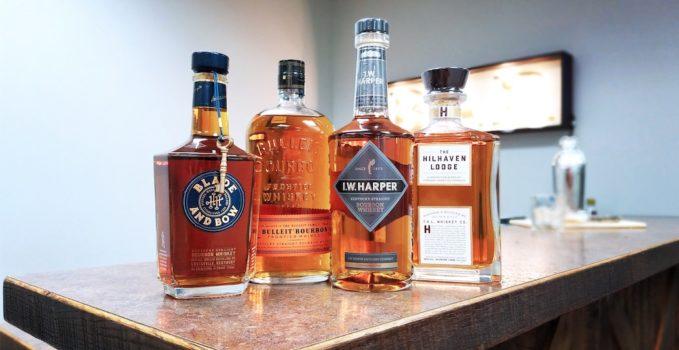bourbon bottles