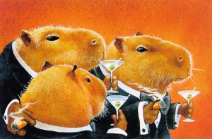 capybara sophisticated