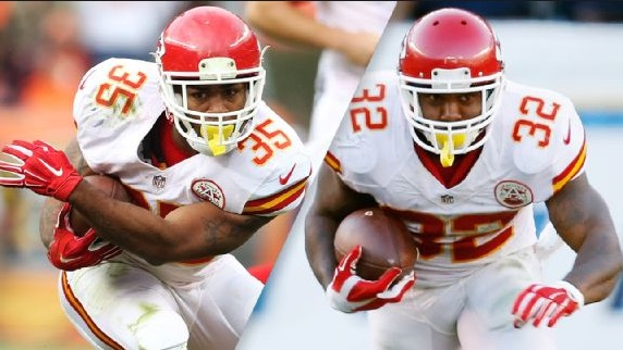 Running backs Charcandrick West and Spencer Ware have stepped up big for the Chiefs.